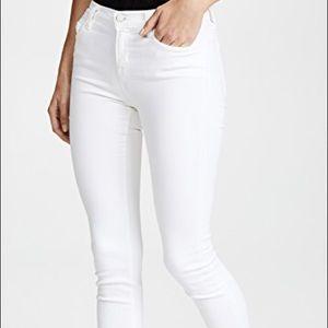 Basic white skinny pants
